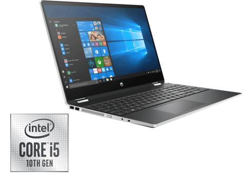 PC Portable HP Pavilion X360 Touch /15-dq1000nk /Processeur Intel® Core™ i5-10210U /1,6 GHz jusqu'à 4,2 GHz /8 Go /1 To /Silver /15.6