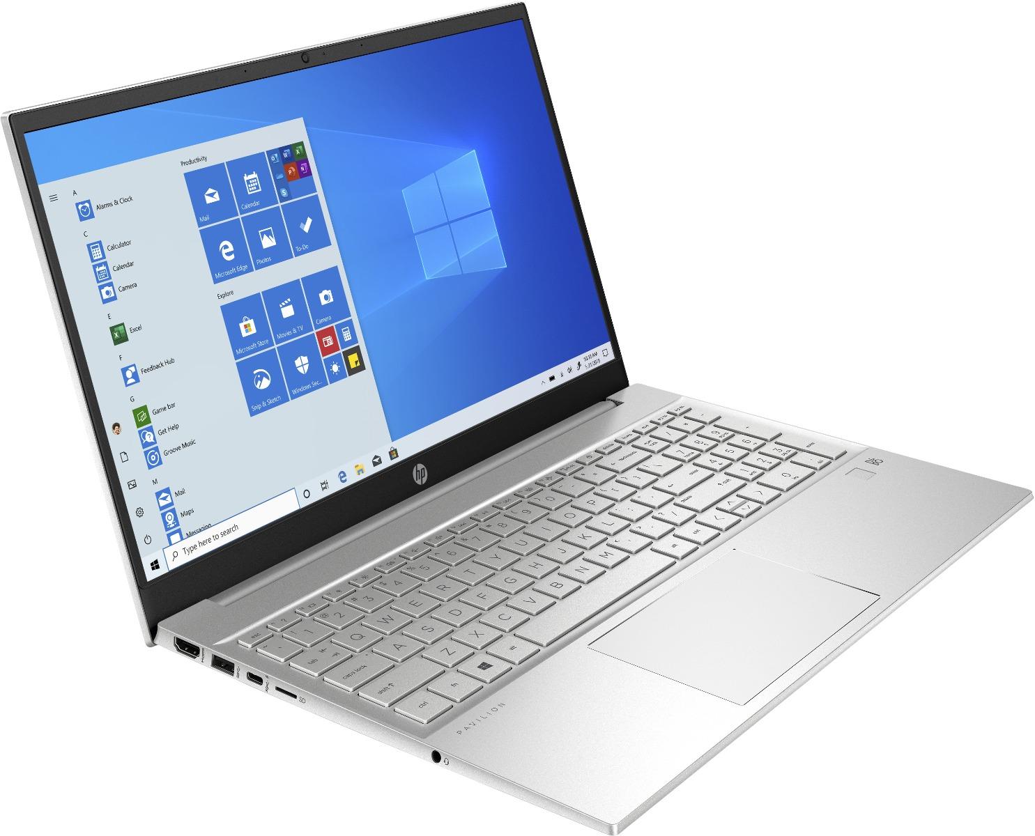 PC Portable HP Pavilion 15 /15-eg0002nk /i5-1135G7 /jusqu'à 4,2 GHz /8 Go /256 Go /Silver /15.6