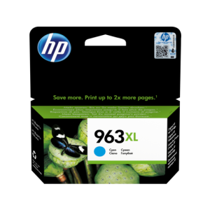 Cartouche HP 963XL High Yield Original Ink Cartridge /Cyan /1600 pages /OfficeJet Pro 9010 - 9013 - 9020