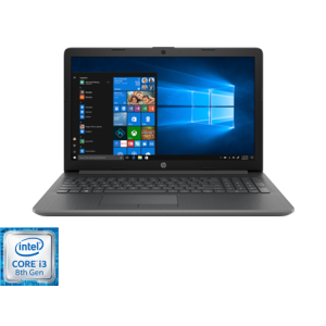 "PC Portable HP 15 15-da0097nk /Processeur Intel® Core™ i3-8130U /2,2 GHz /4 Go /1 To /Gris /15.6"" /Intel® UHD 620 /Windows 10 Famille"