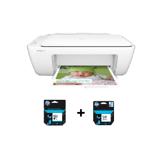 Imprimante  HP DeskJet 2130 All-in-One /3 en 1 /Impression - Copie - Numérisation /7.5 ppm Noir - 5.5 ppm Couleur /600 x 300 ppp /USB /A4 + Cartouche Double Contenance