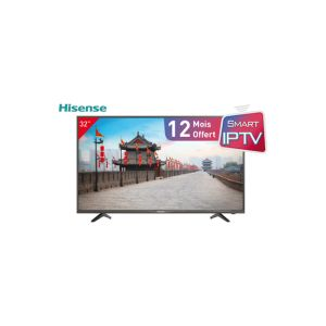 "TV HISENSE 32"" N2170 Ultra SLIM /SMART /LED /Full HD /1920x1080 /HDMI - USB + Service IPTV Gratuit + Support TV mural Gratuit"