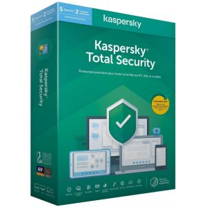 Antivirus KASPERSKY Total Security 2020 /5 Postes /2 Comptes utilisateurs