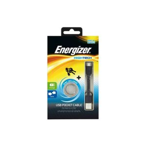 Cable ENERGIZER /Noir /Pocket Data Micro USB /USB 2.0 - Micro USB /8cm