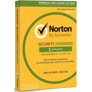 Antivirus NORTON Security Standard /1 an /1 Poste