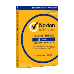 Antivirus NORTON Security Deluxe /1 an /5 Postes