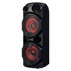 "Haut-parleur VOLKANOX Samson series portable /6.5"" /Noir /Bluetooth /Double woofer true"