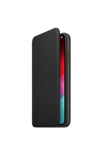 Etui APPLE en Cuir /Noir /Pour iPhone XS Max