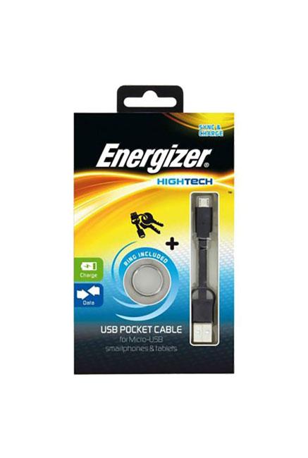 Cable ENERGIZER /Noir /Pocket Data Micro USB /USB 2.0 - Micro USB /8cm
